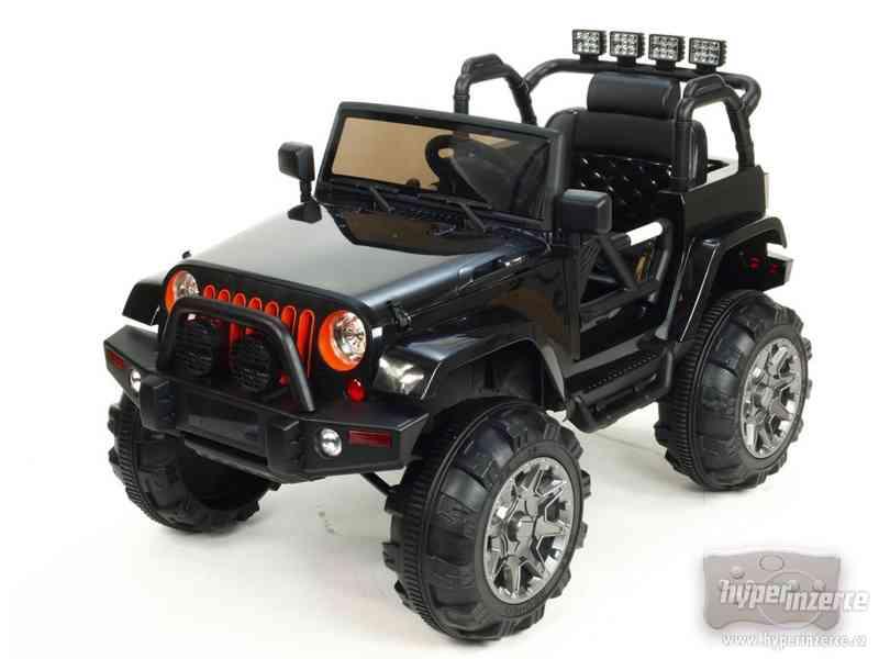 Dětské elektrické auto džíp Wrangler Černý