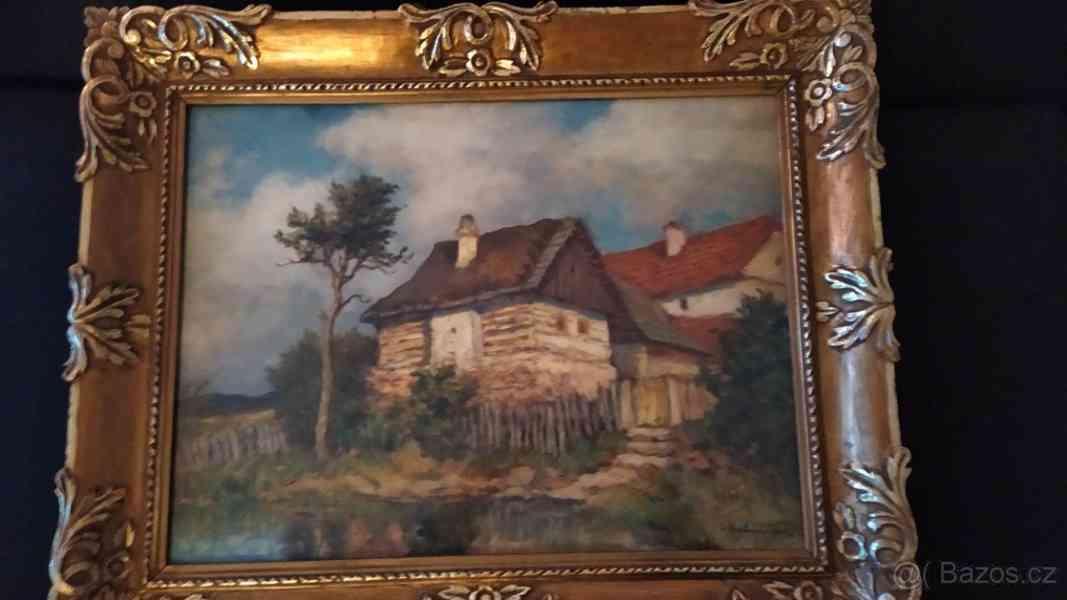 Originál velký obraz malíře Bubeníček O. - olej
