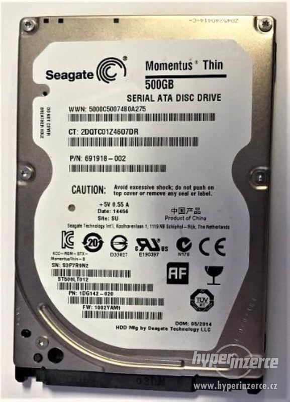HDD do NB Seagate Momentus Thin ST500LT012 500GB - foto 1