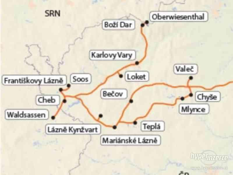 Západní Čechy - lázeňský trojúhelník s výlety