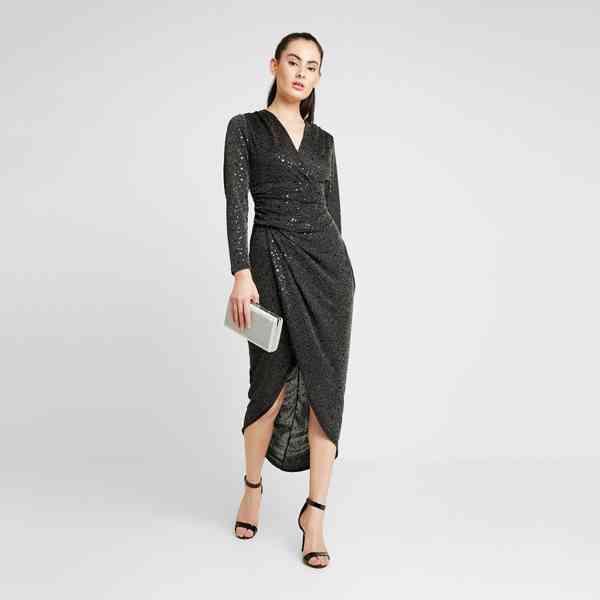 Walg - Koktejlové asymetrické šaty Velikost: 34