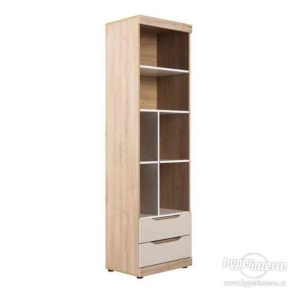 Regál, knihovna, policová skříňka se šuplíky SMART (C)