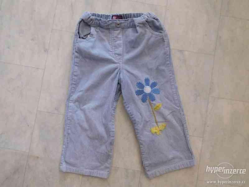 dětské manžestrové kalhoty