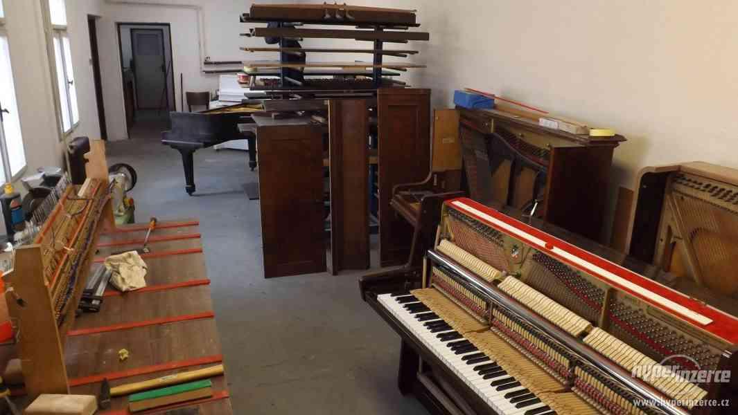 Prodej pian Petrof po opravě