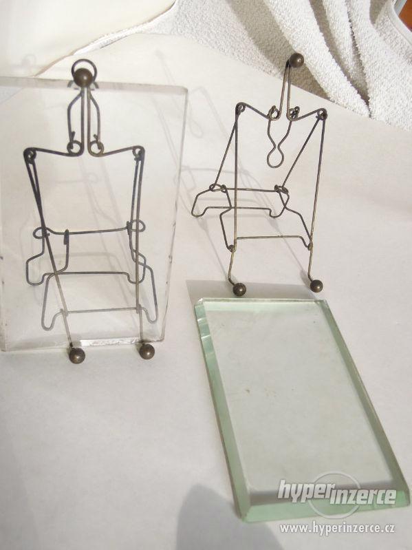 Staré fotorámečky , s broušenými skly . - foto 4