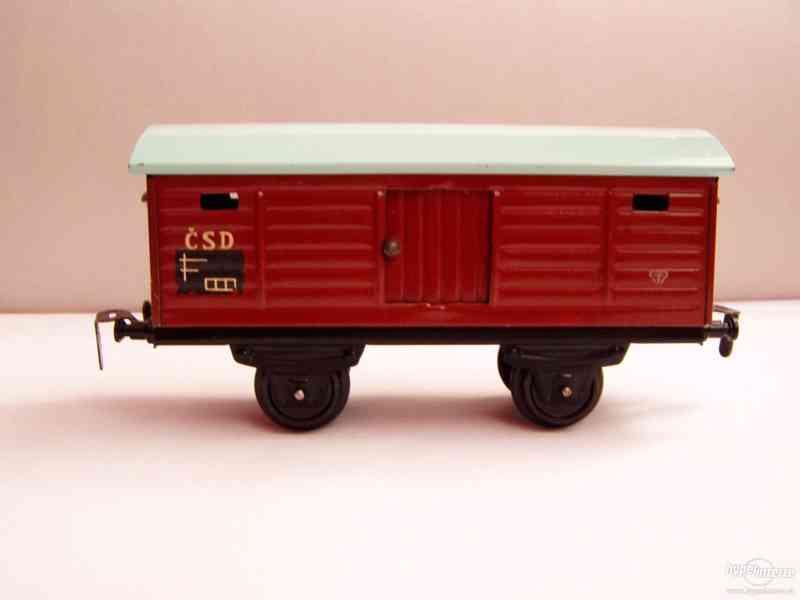 Plechový vagónek  -  MERKUR - foto 3