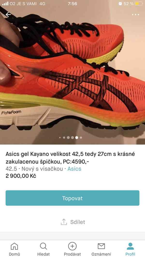Běžecká obuv nové Gel Kayano 24 25 26 vel.42,5 tj27cm
