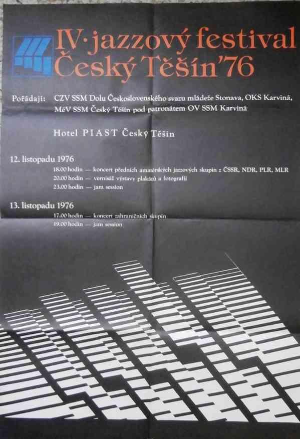 Plagát na IV. jazzový festival Český Těšín ´76.