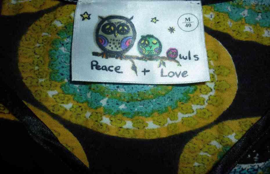 Pestrobarevná tunika Peace and Love - foto 4