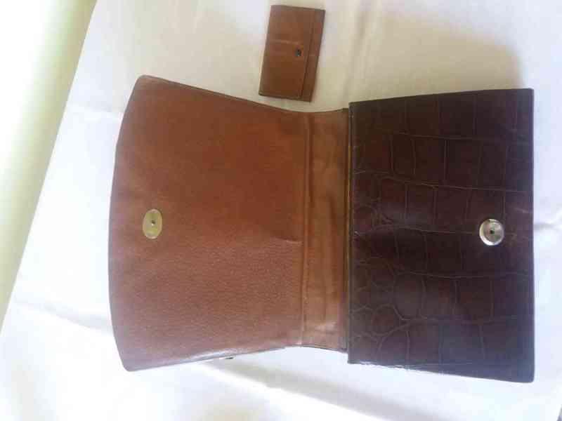 Starožitná kabelka z krokodýlí kůže - foto 3