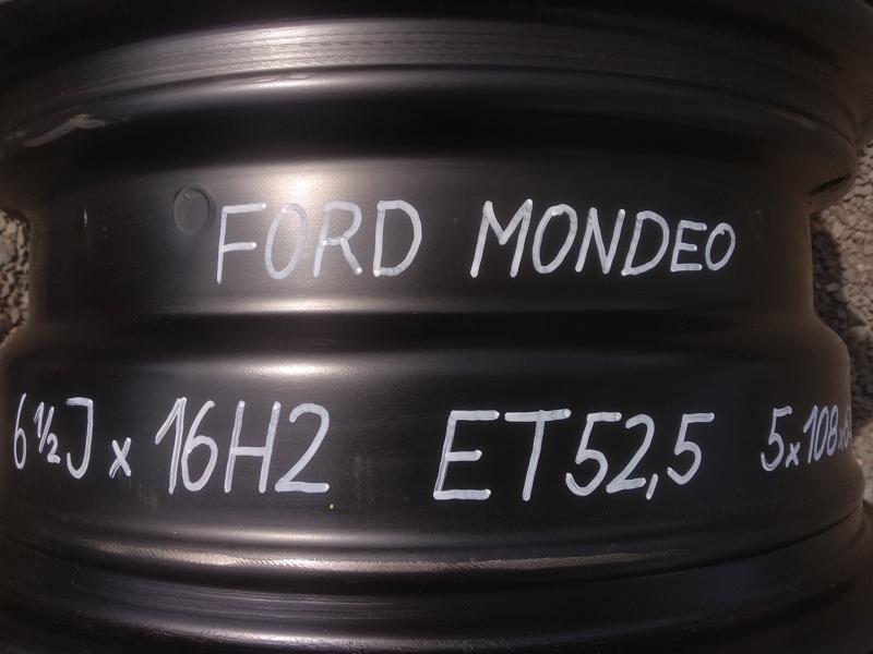 Sada ocelových disků 6 1/2 Jx16H2 ET52,5 na FORD Mondeo