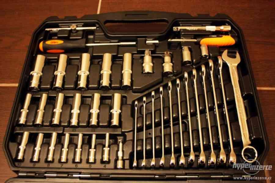 GOLA SADA 219 ks NASADOVÉ KLÍČE CrV kufřík nářadí klíč - foto 12