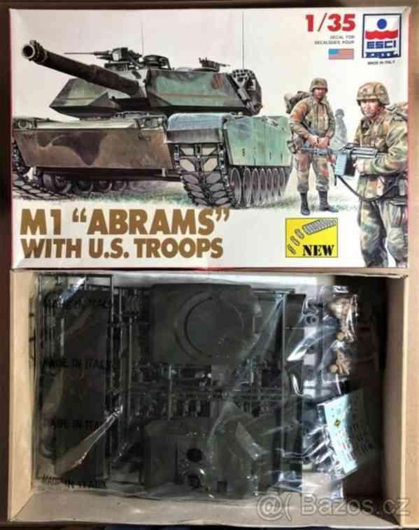 Model americkeho tanku - m1 abrams 1/35 with troops