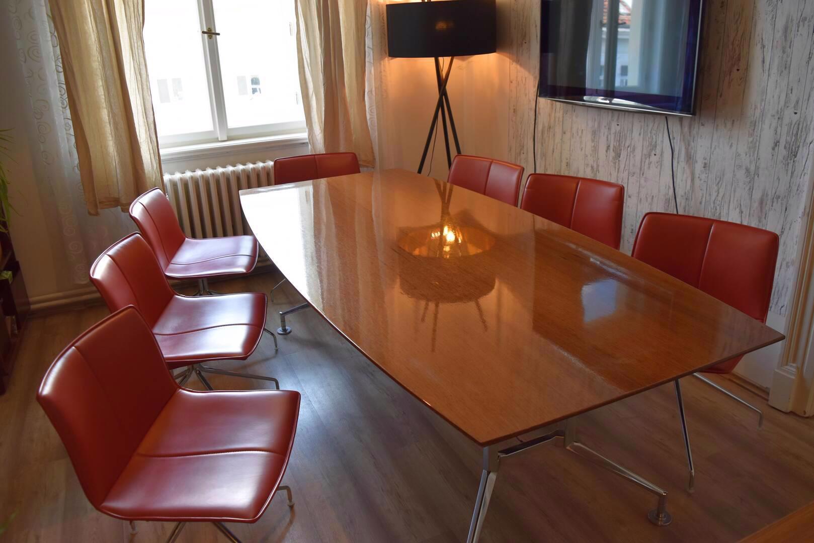 Designový kancelářský stůl 110x240cm,americký černý ořech  - foto 1