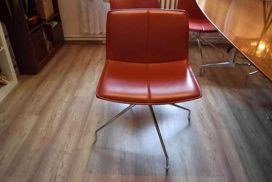 Designový kancelářský stůl 110x240cm,americký černý ořech  - foto 6