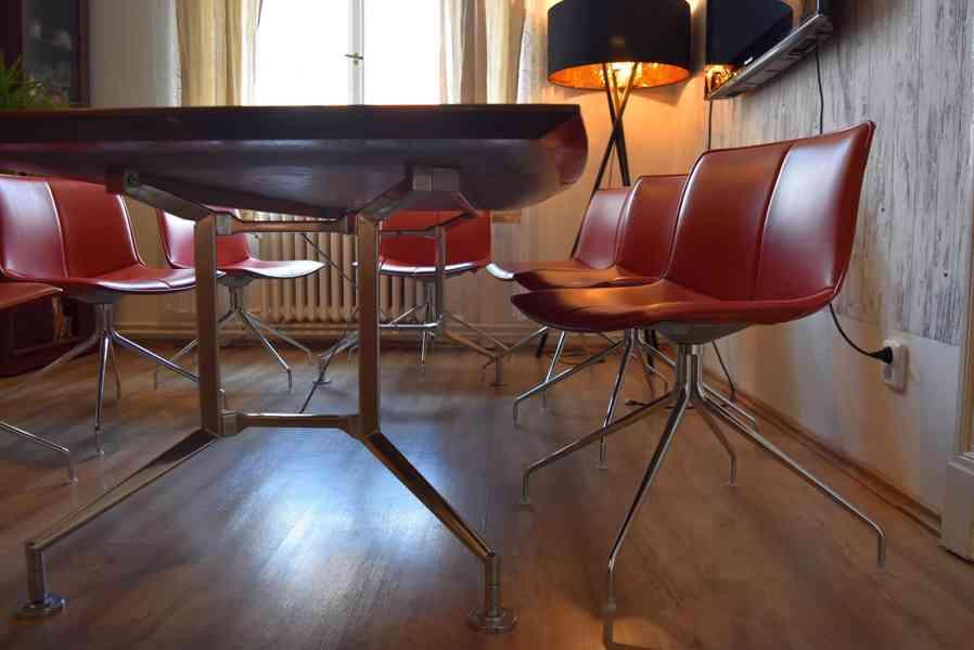 Designový kancelářský stůl 110x240cm,americký černý ořech  - foto 3