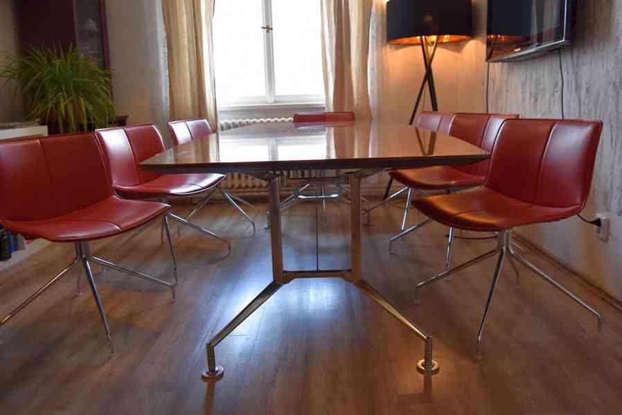 Designový kancelářský stůl 110x240cm,americký černý ořech  - foto 4