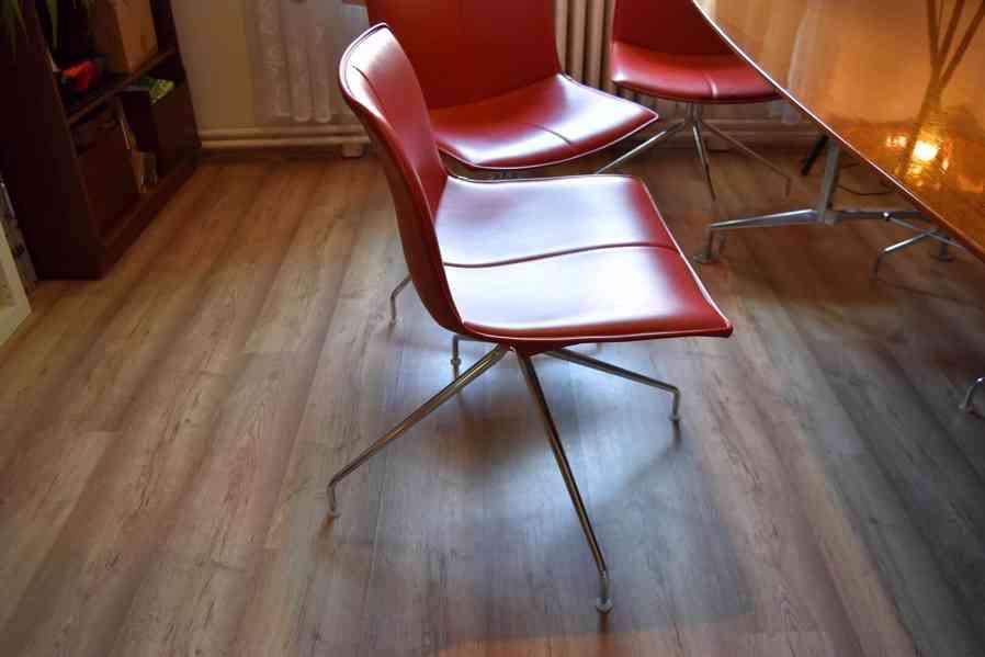 Designový kancelářský stůl 110x240cm,americký černý ořech  - foto 7