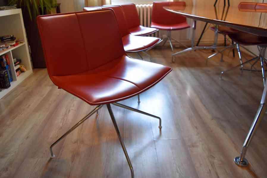 Designový kancelářský stůl 110x240cm,americký černý ořech  - foto 5