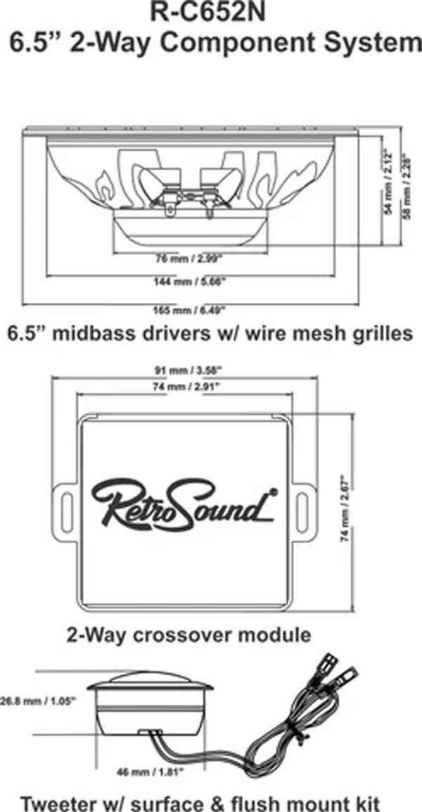 Komponentní reproduktory RetroSound 16,5cm - foto 4