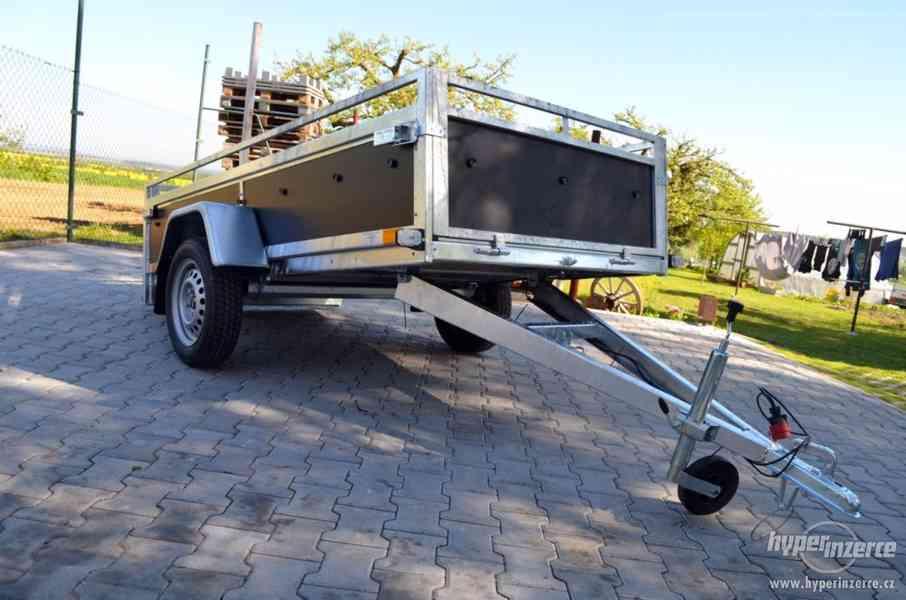 Přívěsný vozík 244x124cm, sklopný, překližka
