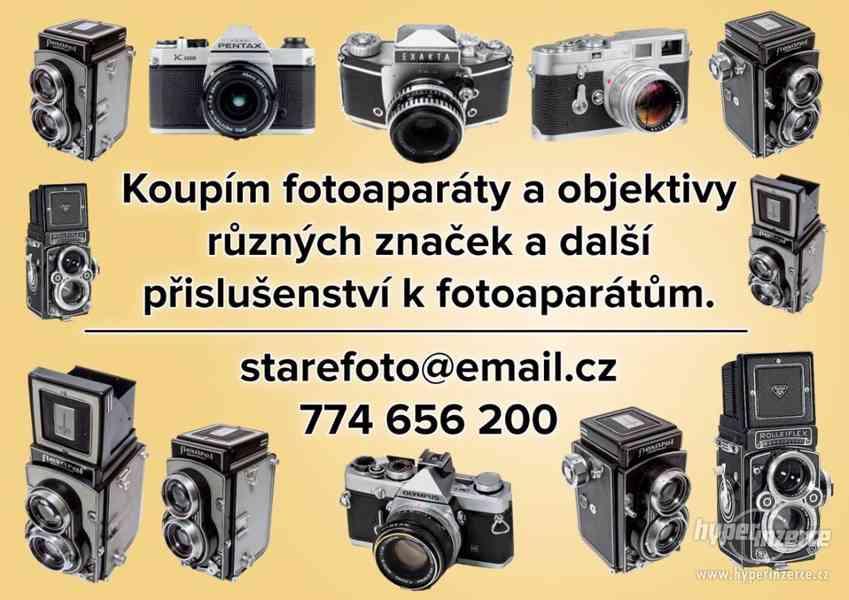 KOUPÍM DO SBÍRKY STARÉ FOTOAPARÁTY OBJEKTIVY A PŘÍSLUŠENSTVÍ