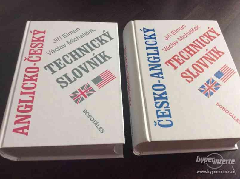 Prodám: TECHNICKÝ slovník česko-anglický a anglicko-český