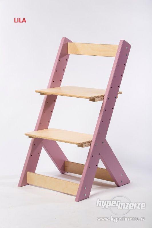 Rostoucí židle OMEGA I - různá barevná kombinace - foto 7