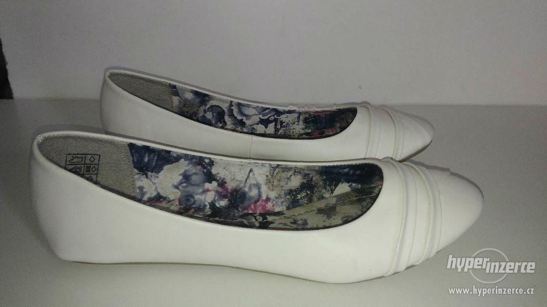 Nové nenošené bílé baleríny - foto 1