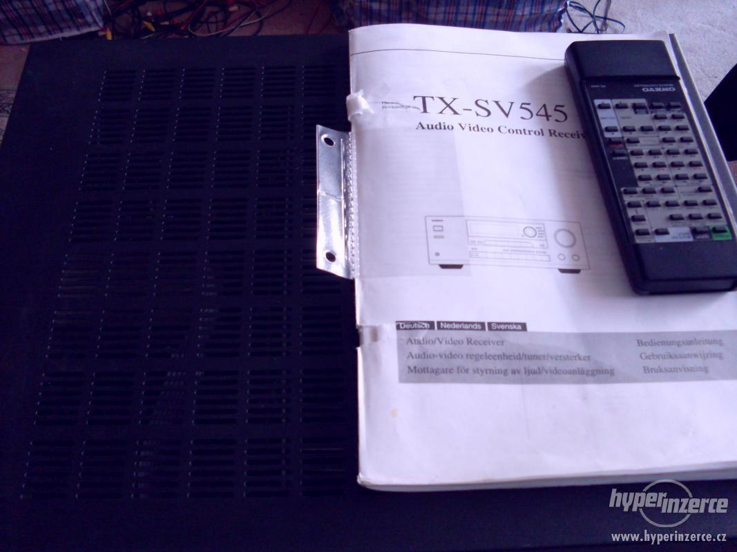 onkyo receiver ,dálka a návod ,výborný stav, 2krát 100w,sinu - foto 1