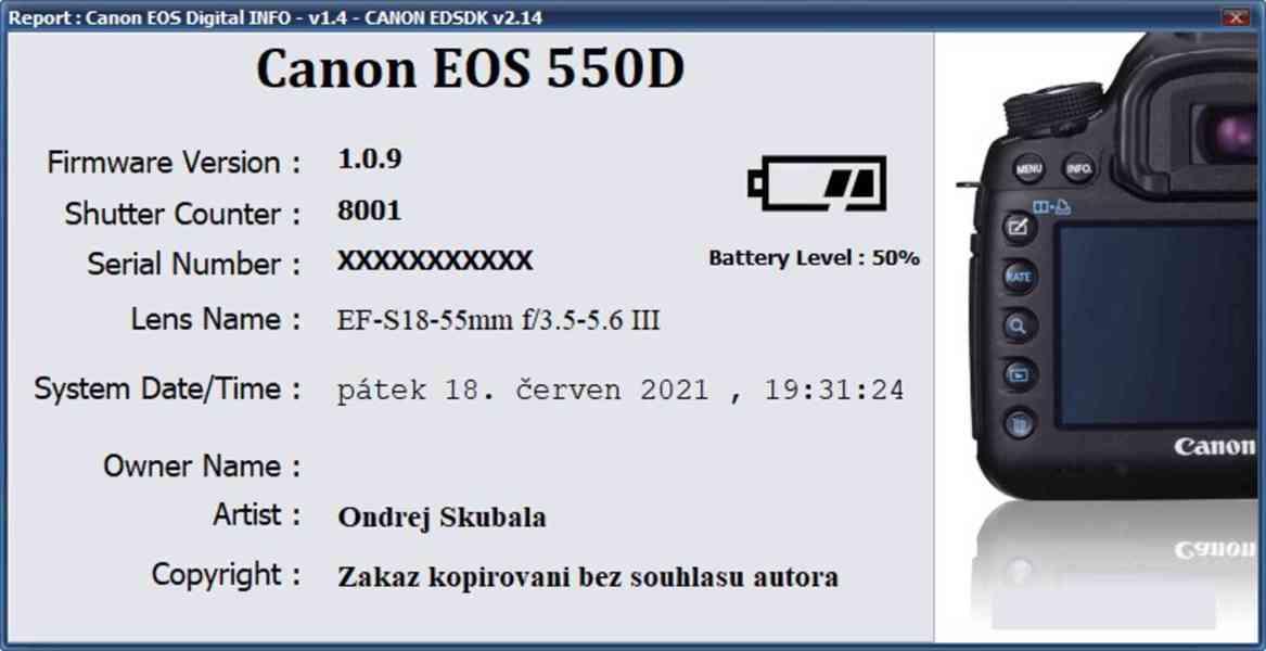 Canon EOS 550D + objektivy a příslušenství - TOP stav - foto 6