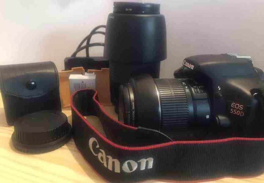 Canon EOS 550D + objektivy a příslušenství - TOP stav