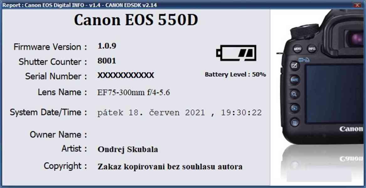 Canon EOS 550D + objektivy a příslušenství - TOP stav - foto 7