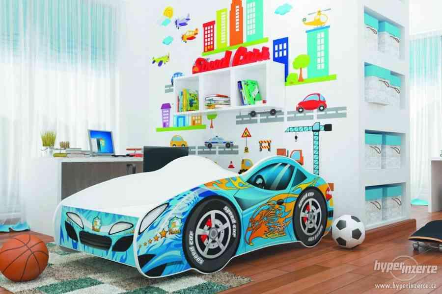Dětská postel AUTO s matrací a roštem
