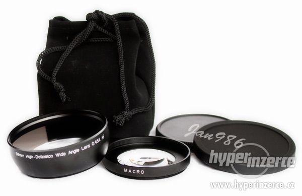 Širokoúhlá + Macro předsádka Canon,Nikon