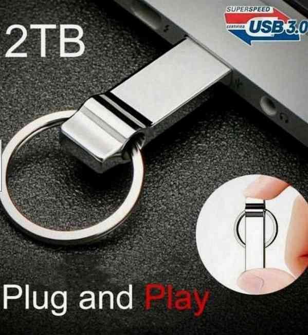 Prodám FlashDisk o kapacitě 2000 GB = 2 TERA stříbrný - foto 3