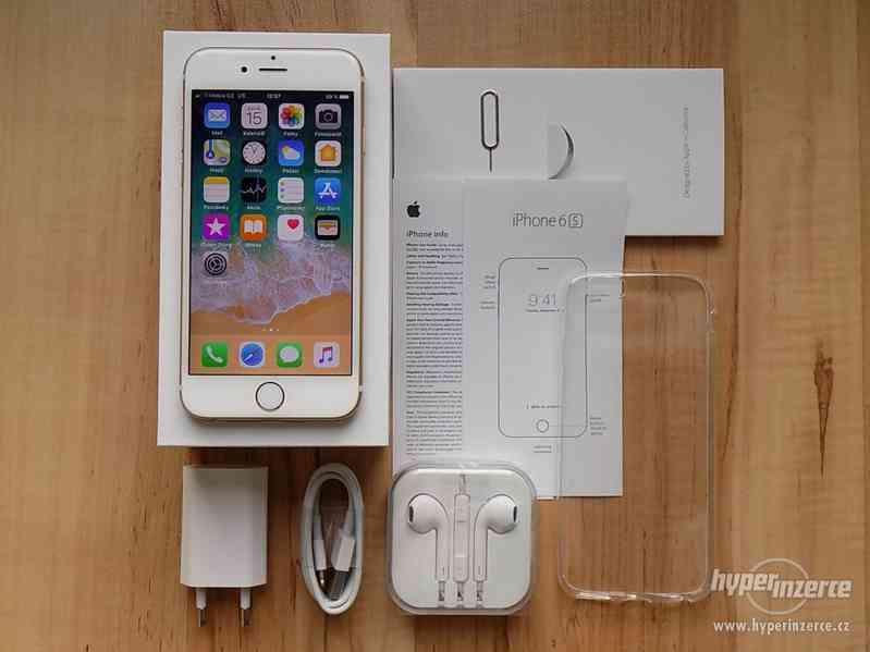 APPLE iPhone 6S 64GB Gold - ZÁRUKA - KOMPLET - SUPER STAV