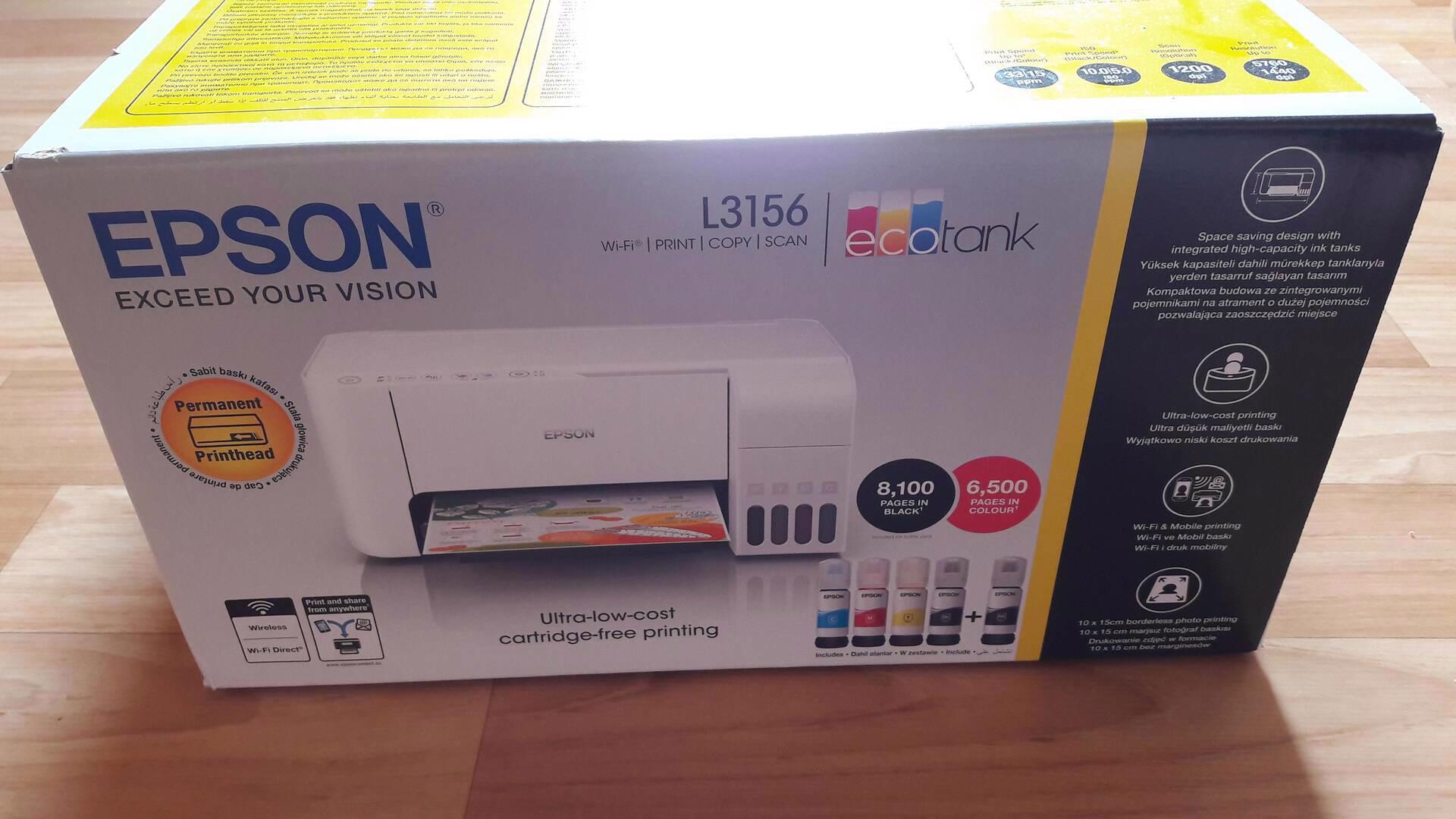 Prodám tiskárnu EPSON L3156, NOVÁ, NEROZBALENÁ, LEVNÝ TISK - foto 1