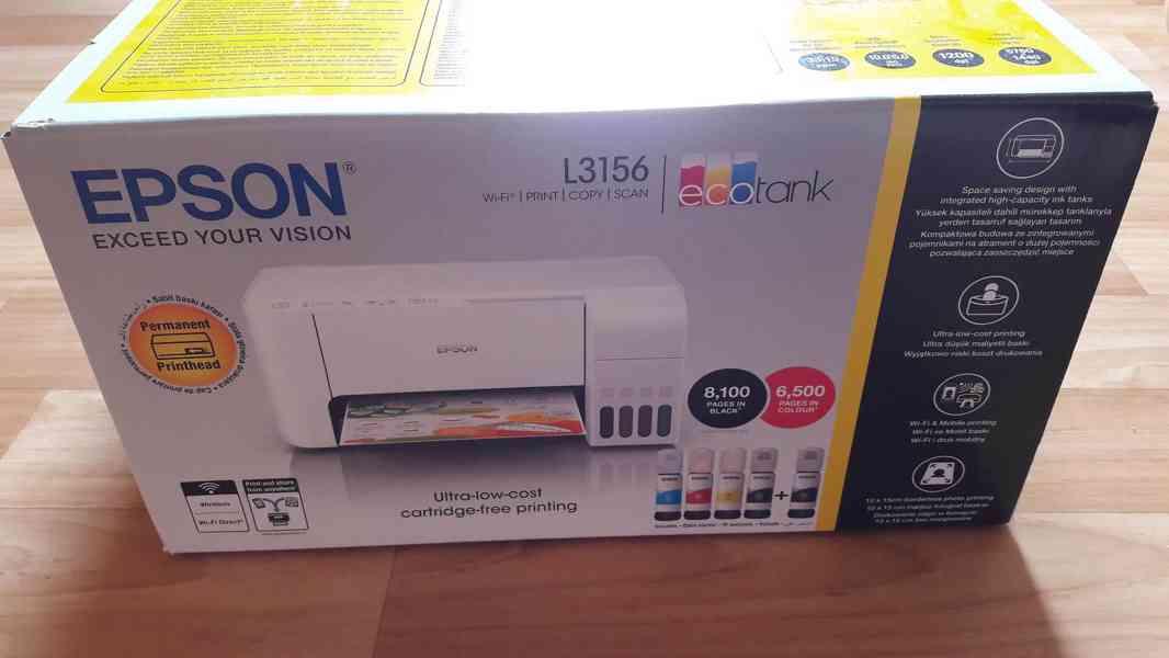 Prodám tiskárnu EPSON L3156, NOVÁ, NEROZBALENÁ, LEVNÝ TISK
