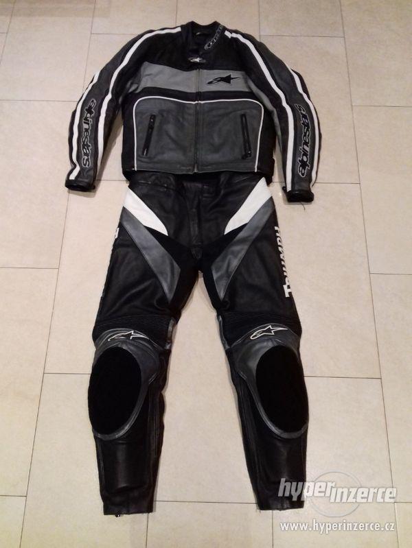 Alpinestars-Triumph-Pánská kožená moto kombinéza-dvoudílná