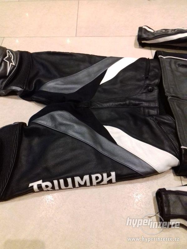 Alpinestars-Triumph-Pánská kožená moto kombinéza-dvoudílná - foto 6