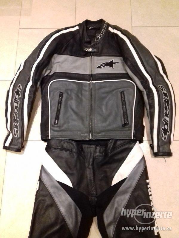 Alpinestars-Triumph-Pánská kožená moto kombinéza-dvoudílná - foto 9