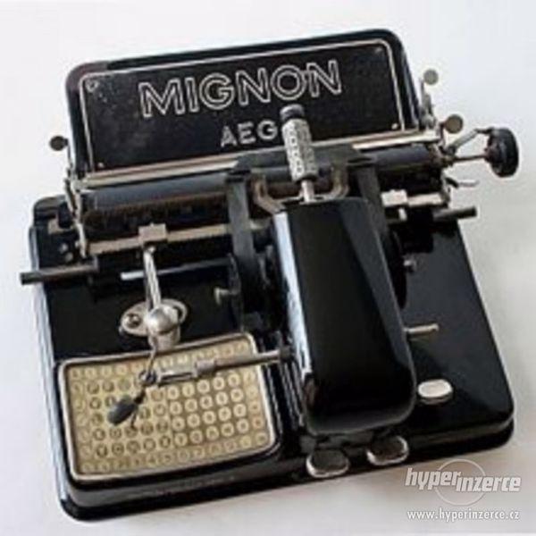 Historický psací stroj Mignon AEG Model 4 r.v.1924