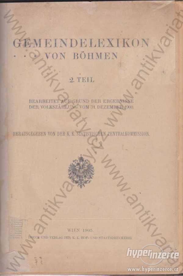 Gemeindelexikon von Böhmen 1905 - foto 1