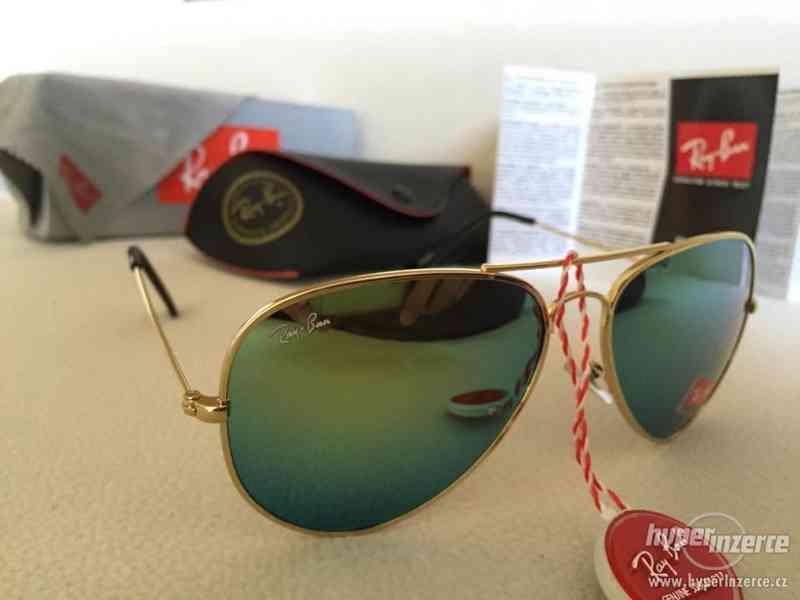 RayBan aviator, zelené slnečné okuliare