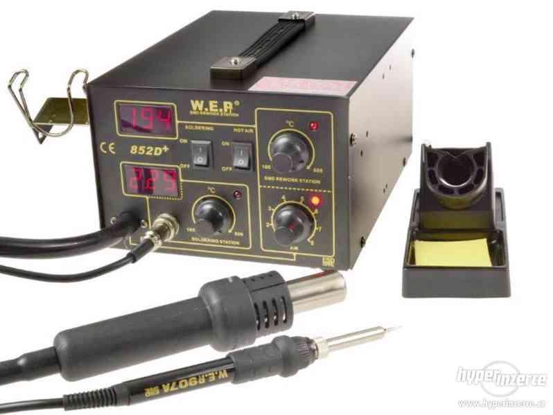 Pájecí stanice WEP 852D+ trysky Držak ZDARMA