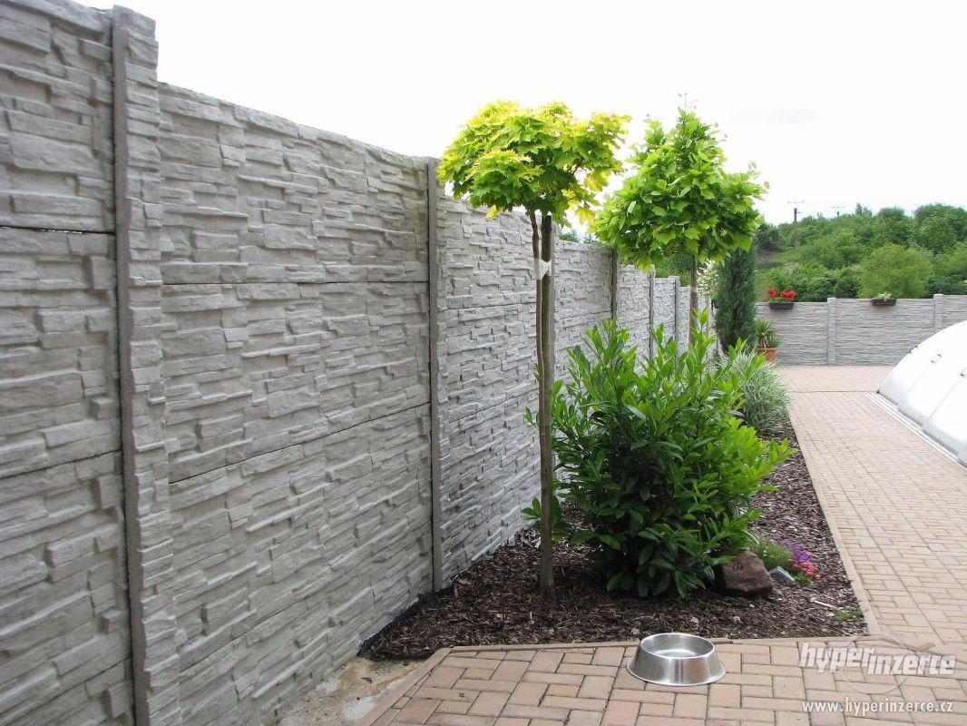Betonový plot - foto 1