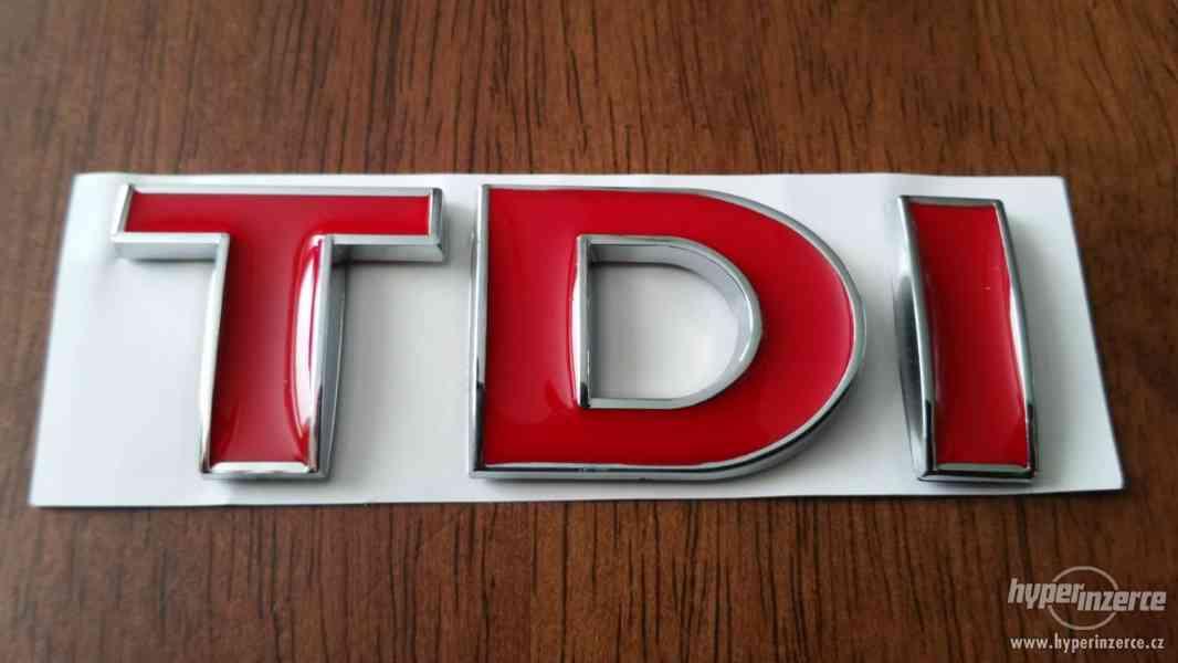 TDI logo VW pro vozy Audi Škoda Seat VW Volkswagen všechny m - foto 1