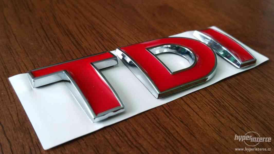 TDI logo VW pro vozy Audi Škoda Seat VW Volkswagen všechny m - foto 2