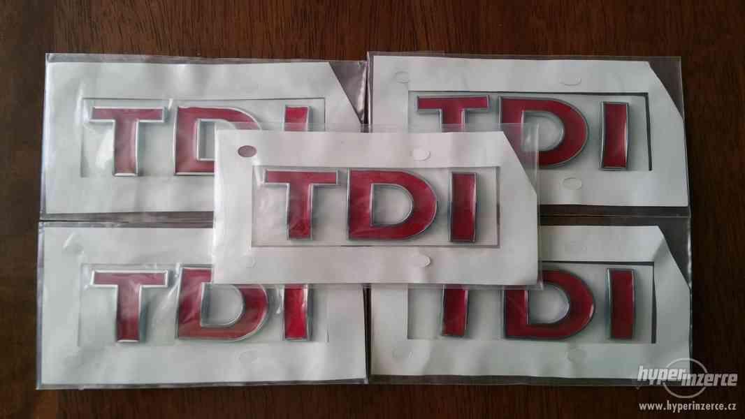 TDI logo VW pro vozy Audi Škoda Seat VW Volkswagen všechny m - foto 3